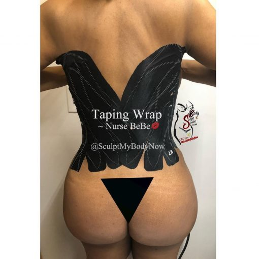 KT taping for Post Op Lipo 360 & Tummy Tuck surgeries